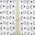 Stars and Moons Window Treatment Panels - Set of 2