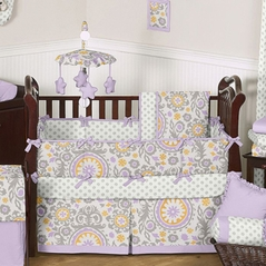 Suzani Baby Bedding - 6 pc Crib Set