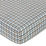 Sweet Jojo Designs Surf Fitted Crib Sheet for Baby/Toddler Bedding Sets - Plaid Print