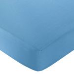 Sweet Jojo Designs Surf Fitted Crib Sheet for Baby/Toddler Bedding Sets - Solid Blue