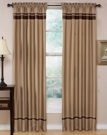Taupe and Chocolate Spa Collection Window Treatment - Set of 2
