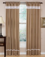Taupe and White Spa Collection Window Treatment - Set of 2
