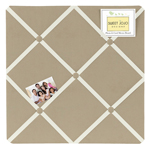 Taupe Fabric Memory/Memo Photo Bulletin Board