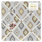 Safari Outback Ikat Fabric Memory/Memo Photo Bulletin Board