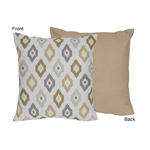 Safari Outback Jungle Ikat Decorative Accent Throw Pillow by Sweet Jojo Designs
