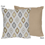 Safari Outback Jungle Ikat Decorative Accent Throw Pillow...
