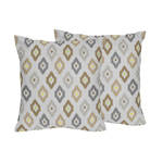 Safari Outback Ikat Jungle Decorative Accent Throw Pillows - Set of 2