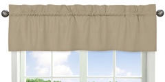 Taupe Window Valance by Sweet Jojo Designs