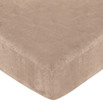 Treasure Cove Fitted Crib Sheet for Baby and Toddler Bedding Sets by Sweet Jojo Designs - Camel Microsuede