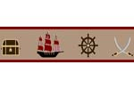 Treasure Cove Pirate Baby and Kids Wall Border by Sweet Jojo Designs
