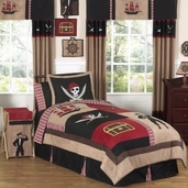 Treasure Cove Pirate Childrens Bedding - 4 pc Twin Set