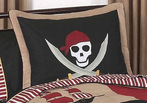 Treasure Cove Pirate Pillow Sham - Click to enlarge