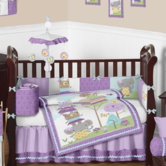 Treetop Friends Animal Baby Bedding - 9 pc Crib Set by Sweet Jojo Designs