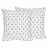 Triangle Print Decorative Accent Throw Pillows for Grey, Coral and Mint Woodland Arrow Bedding by Sweet Jojo Designs - Set of 2