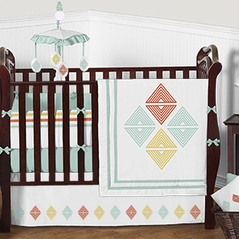 Tribal Diamond Baby Bedding - 9pc Girls Boys Crib Set by Sweet Jojo Designs