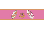 Tropical Hawaiian Baby and Kids Wall Paper Border for Sweet Jojo Designs Surf Bedding