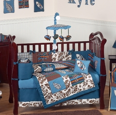 Tropical Hawaiian Baby Bedding - 9pc Boys Surf Crib Set