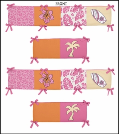 Tropical Hawaiian Baby Crib Bumper Pad by Sweet Jojo Designs