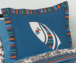 Tropical Hawaiian Pillow Sham for Surf Bedding by Sweet Jojo Designs