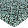 Turquoise and Brown Bella Fitted Crib Sheet for Baby and Toddler Bedding Sets by Sweet Jojo Designs - Damask Print