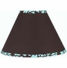 Turquoise and Brown Bella Lamp Shade by Sweet Jojo Designs