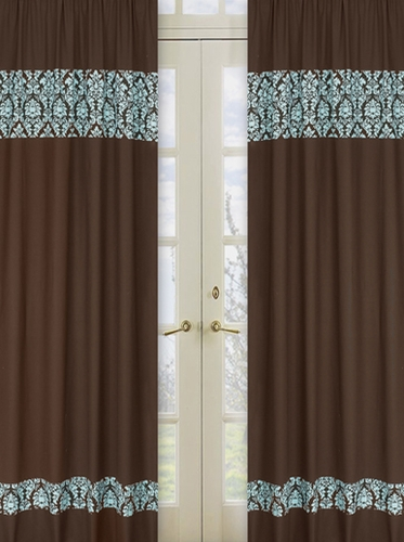 Curtains For A Bay Window Gold and Turquoise Curt