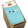 Turquoise and Lime Hooty Owl Baby Changing Pad Cover by Sweet Jojo Designs