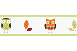Turquoise and Lime Hooty Owl Children and Kids Wall Border by Sweet Jojo Designs