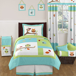 JoJo Designs Turquoise and Lime Hooty Owl Childrens and K...