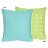 Turquoise and Lime Hooty Owl Decorative Accent Throw Pillow by Sweet Jojo Designs