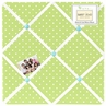 Turquoise and Lime Hooty Owl Fabric Memory/Memo Photo Bulletin Board by Sweet Jojo Designs