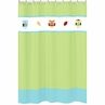 Turquoise and Lime Hooty Owl Kids Bathroom Fabric Bath Shower Curtain by Sweet Jojo Designs