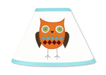 Turquoise and Lime Hooty Owl Lamp Shade by Sweet Jojo Designs