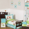 Turquoise And Lime Hooty Owl Childrens And Kids Bedding
