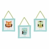 Turquoise and Lime Hooty Owl Wall Hanging Accessories by Sweet Jojo Designs