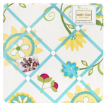 Turquoise and Lime Layla Fabric Memory/Memo Photo Bulletin Board