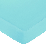 Turquoise and Lime Layla Fitted Crib Sheet for Baby/Toddler Bedding Sets - Turquoise Blue
