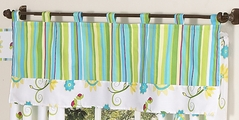 Turquoise and Lime Layla Girls Window Valance by Sweet Jojo Designs
