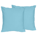 Turquoise Decorative Accent Throw Pillows for Chevron Collection - Set of 2