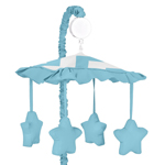 Turquoise and White Chevron Musical Baby Crib Mobile by Sweet Jojo Designs