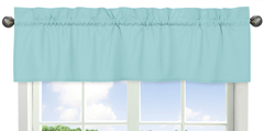 Turquoise Blue Window Valance by Sweet Jojo Designs
