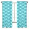 Turquoise Diamond Window Treatment Panels for Mod Elephant Collection by Sweet Jojo Designs - Set of 2