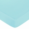 Turquoise Funky Zebra Fitted Crib Sheet -Turquoise