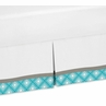 Turquoise Gray and White Twin Bed Skirt for Mod Elephant Bedding Sets by Sweet Jojo Designs