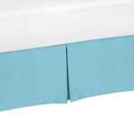 JoJo Designs Turquoise Twin Bed Skirt for Turquoise and W...