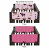 Western Cowgirl Baby Crib Side Rail Guard Covers by Sweet Jojo Designs - Set of 2