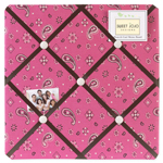 Western Cowgirl Pink Bandana Fabric Memory/Memo Photo Bulletin Board