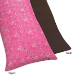 Western Horse Cowgirl Full Length Double Zippered Body Pillow Case Cover by Sweet Jojo Designs