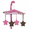 Western Horse Cowgirl Musical Baby Girl Crib Mobile by Sweet Jojo Designs