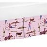 Western Horse Crib Bed Skirt for Cowgirl Baby Bedding Sets by Sweet Jojo Designs